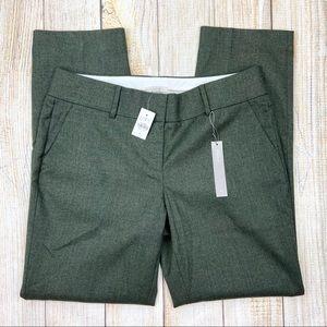 New LOFT Green Marissa Straight Pants, Lined